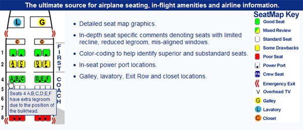 SeatGuru cuenta con cientos de aerolíneas de todo el mundo