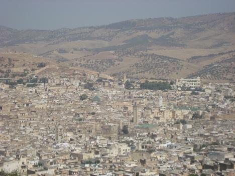 Vista panorámica de la Medina de Fez