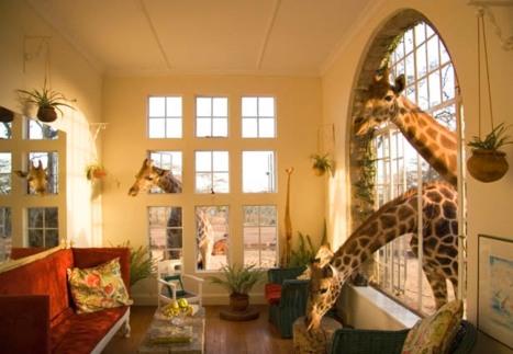 hotel Giraffe Manor en Langata, Kenia.